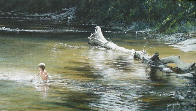 """Cooling Off"" is among the paintings from Bill Grausgruber that will be on display at Windsor Whip Works Art Center."