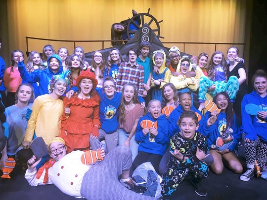 The cast of Fairview Middle School's Little Mermaid