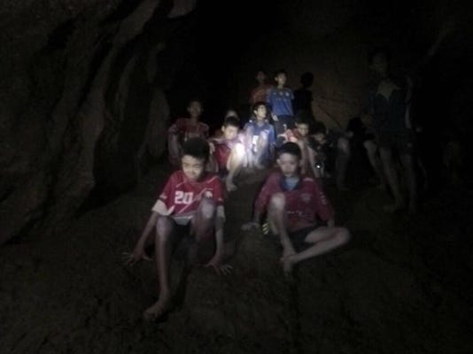 APTOPIX Thailand Cave Search
