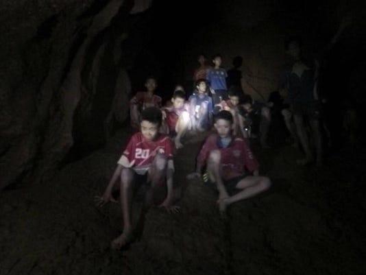 APTOPIX Thailand Cave Search