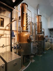 The distillery room at the Stoutridge Vineyard in Marlboro,