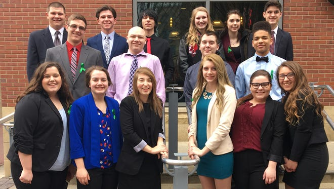 Sixteen students from the Pioneer/Bucyrus Marketing and Media Satellite programs competed at the Ohio DECA Career Development Conference March 18 and 19 in Columbus.