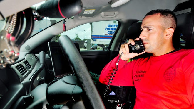 Yousef Hafza in a 2013 FLORIDA TODAY file photo, shown during his tenure as a an officer in the Palm Bay Police department.