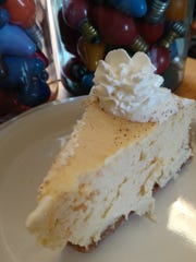 This eggnog cheesecake is a perfect dessert for a holiday