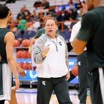 MSU  Basketball NCAA practice in Syracuse