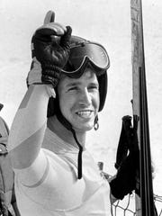 In this Feb. 16, 1984 file photo, American skier Bill