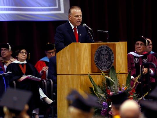 Senator Joe Pennacchio speaks during the inauguration