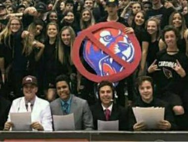 The Chandler Basha student section is a co-winner of the azcentral.com Fan Experience contest for the basketball season.