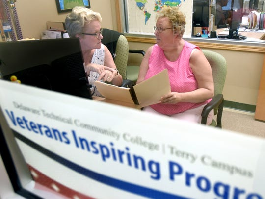 Ann Kalousek (right) with Veterans Services coordinator