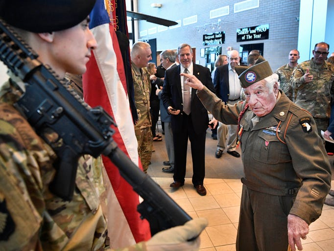 WWII paratrooper Vince Speranza has a few words to