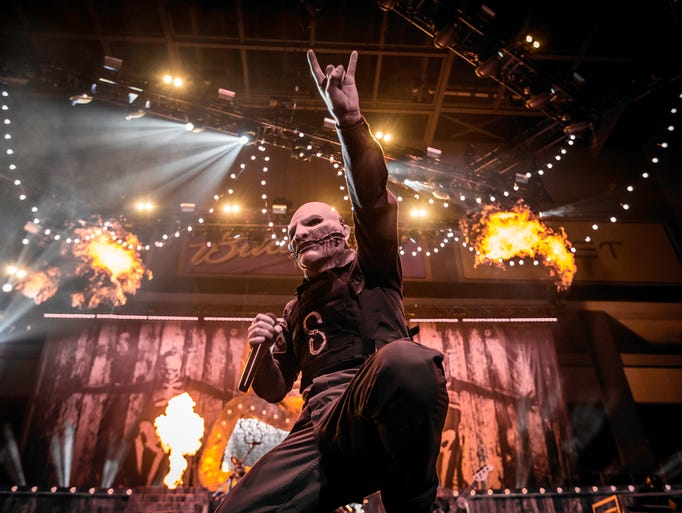 Slipknot performs at the Premier Center Sunday night.