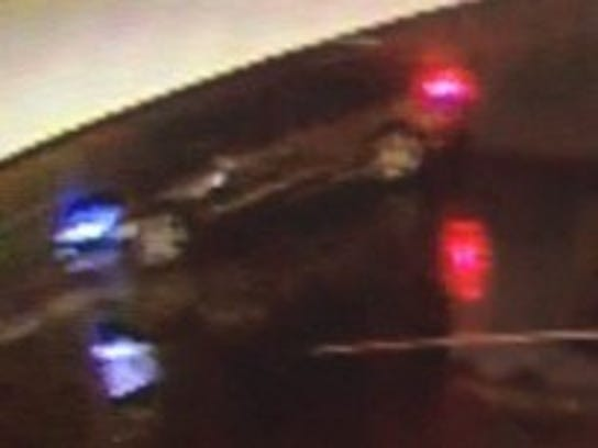 Police say this vehicle was seen fleeing from the scene.
