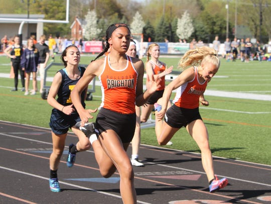 Brighton's Brooke Gray (front) had the fastest 100-