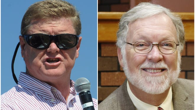 Mark Amodei, left, and Chip Evans are running for Nevada's U.S. House seat in Congressional District 2.