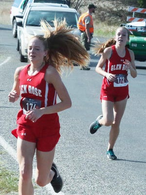 Glen Rose's Jocelyn Mims (front) and Mignon Miller will be looked upon to be the anchors of the girls team this year.