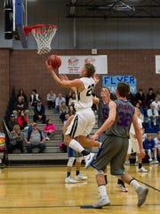 Desert Hills basketball takes on Richfield during the