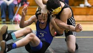 Elijah Lusk of Merritt Island wrestling