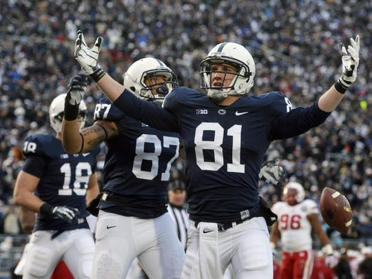 Tight end Adam Breneman (81) said perseverance learned