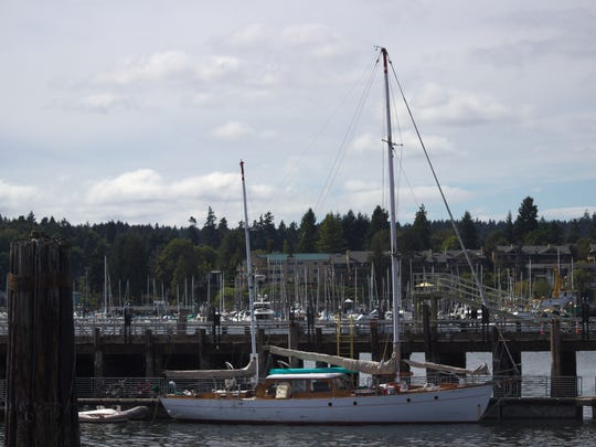 "Yeiser's boat ""Flying Gull"" in Eagle Harbor following"