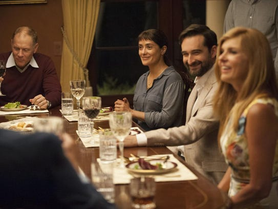 David Warshofsky, from left, Salma Hayek, Jay Duplass