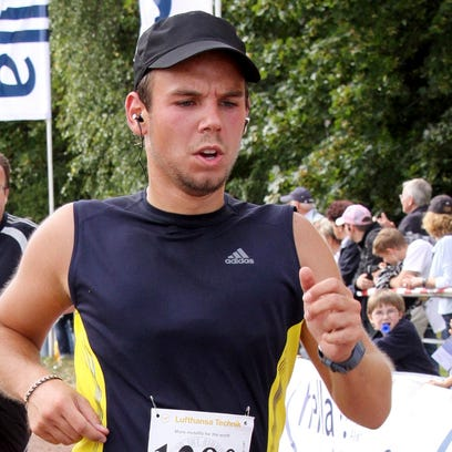 Andreas Lubitz competes at the Airportrun on Sept.