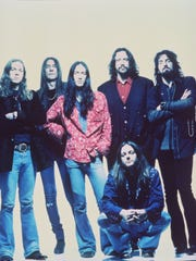 Ex-Detroiter Eddie Harsch, second from left in this Black Crowes group photo, was the band's keyboardist.