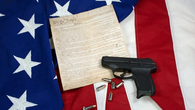 The population of the United States at the time the Constitution was ratified was approximately 2.5 million people.  Today, America has 300 million people and the Second Amendment is still set in stone.