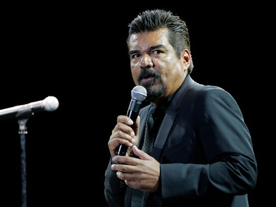 Comedian George Lopez is shown performing in July 2015