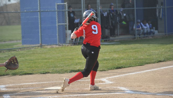 Bucyrus at St. Peter's softball at Spartan Fields on April 12, 2018.
