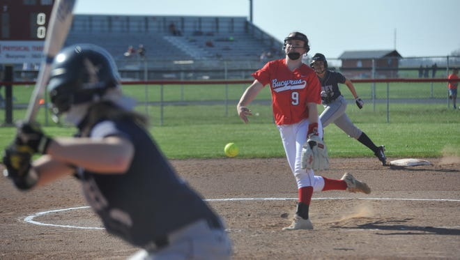 Caleigh Rister struck out eight batters in her team's win.