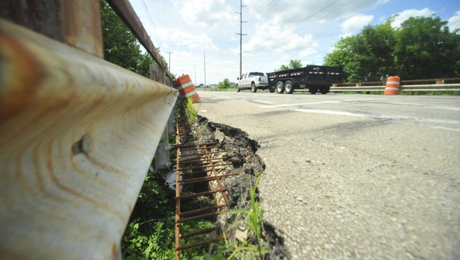 Deterioration of the State Street bridge in Shelby was discussed during Monday's city council meeting.