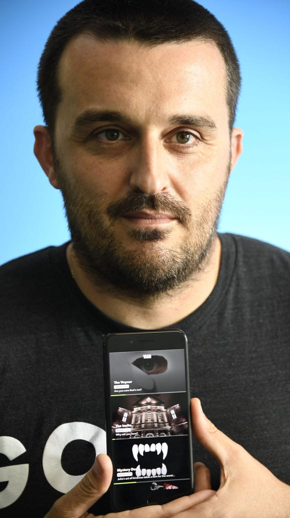 Benoit Vatere, the founder of the Wishbone and Yarn