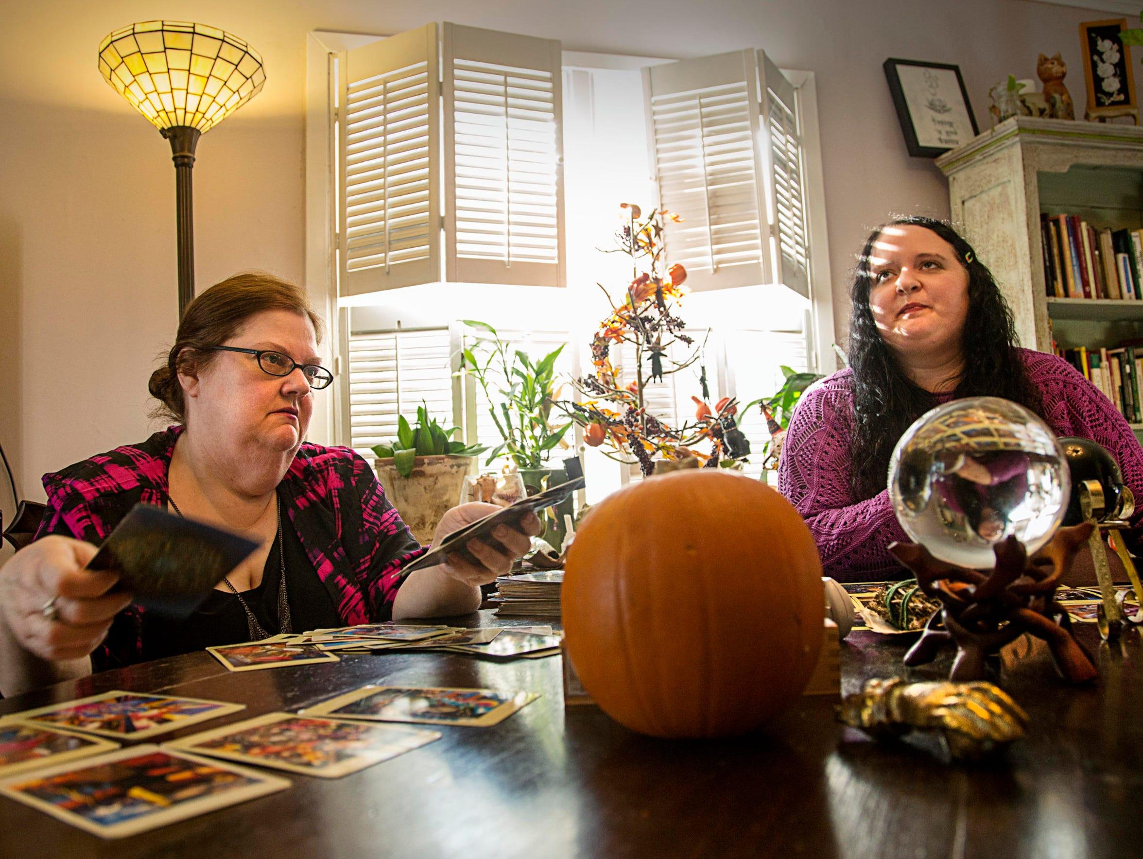 Vision Psychics Vianne Higgins, left, and Ula Yule,