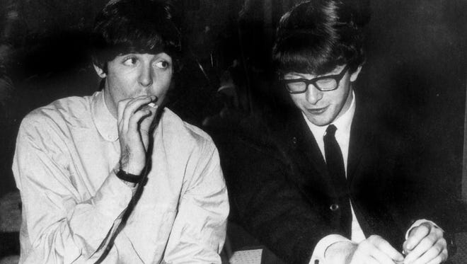 Paul McCartney and Peter Asher in the heyday of the British Invasion of the 1960s.