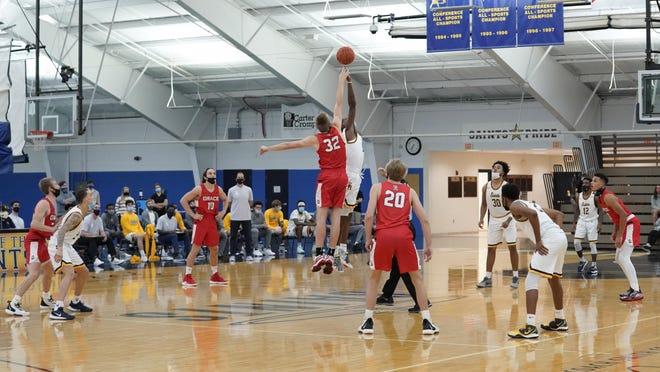 The Siena Heights men's basketball team tips off Tuesday's season-opener against Grace Christian.