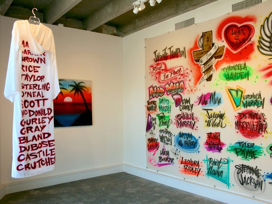 "Brandon Donahue, Installation view of ""RIP""."