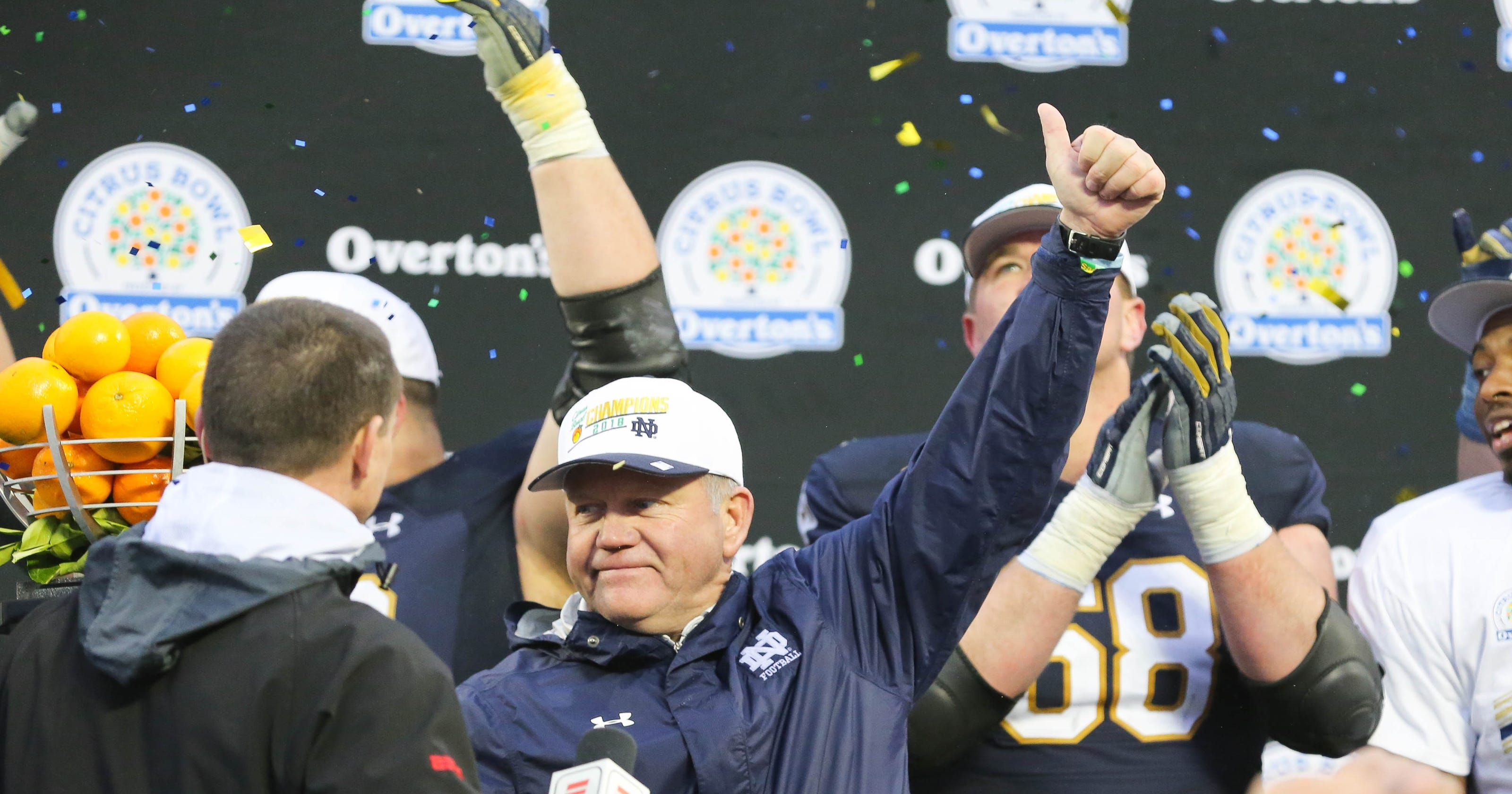 9a3124b2a Notre Dame football ranked No. 12 in preseason AP poll