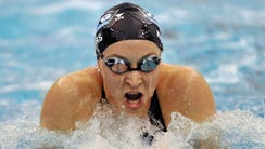 In this Dec. 6, 2008, file photo, Ariana Kukors swims