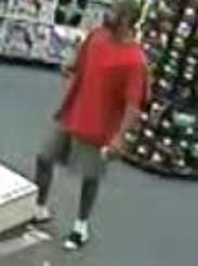 Security footage from CVS shows the alleged robber