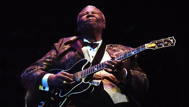 B.B. King plays at the Flynn Theater in Burlington during a Jan. 31, 2001, performance.