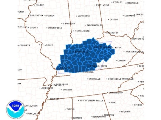 A severe thunderstorm watch is in effect until 3 p.m. CDT.