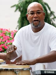 Louis E. Woodyard Jr. plays congas with Grooovatine