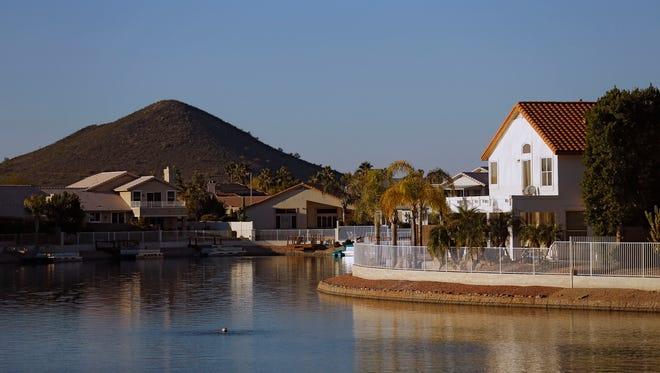 Homes around Arrowhead Lakes Park Wednesday, Dec 2, 2015 in Glendale, Ariz.