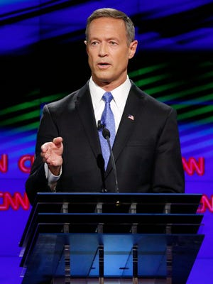 Democratic presidential candidate former Maryland Gov. Martin O'Malley speaks during the CNN Democratic presidential debate Tuesday, Oct. 13, 2015, in Las Vegas.