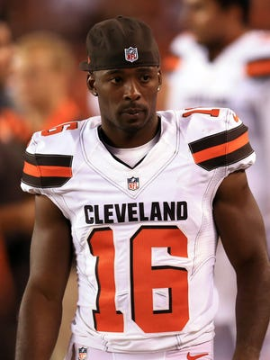 Cleveland Browns wide receiver Andrew Hawkins (16) is excited about his new head coach and thinks his absence will hurt his former team.