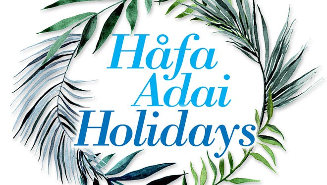 Hafa Adai Holidays graphic.