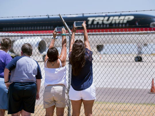 Supporters flocked to Donald Trump and his campaign promises, which included building a border wall and making Mexico pay for it.
