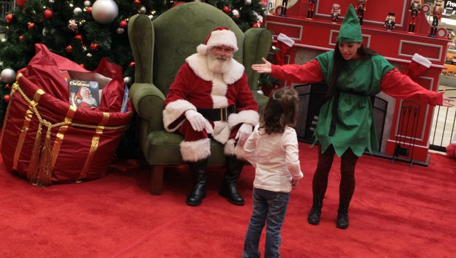 Santa Claus makes his first visit to Clarksville this weekend at Governor's Square Mall.