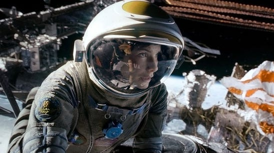 'Gravity,' with Sandra Bullock, was No. 1 for the third consecutive week.