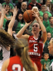 Fairfield Christian Academy senior Hope Custer broke the all-time girls scoring record this season and finished her career with 1,716 points.